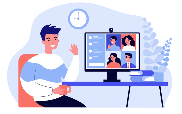 video-conference-chat-vector